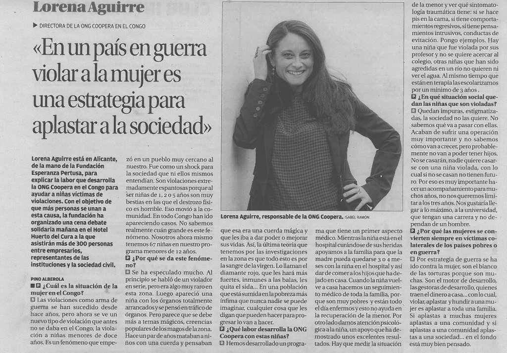 Interview Lorena Aguirre