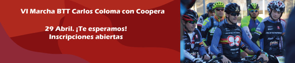 Carlos Coloma VI BTT banner with Coopera
